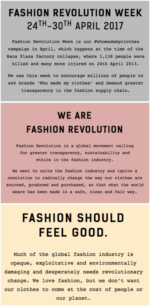Fashion Revolution Day 1 24 April 2017